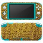 igsticker Nintendo Switch Lite 専用 デザインスキンシール 全面 任天堂 専用 ニンテンドー スイッチ ライト  ゴールド ギラギラ 001939