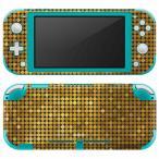 igsticker Nintendo Switch Lite 専用 デザインスキンシール 全面 任天堂 専用 ニンテンドー スイッチ ライト  ゴールド ギラギラ 001949