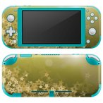 igsticker Nintendo Switch Lite 専用 デザインスキンシール 全面 任天堂 専用 ニンテンドー スイッチ ライト  星 ゴールド 緑 002181
