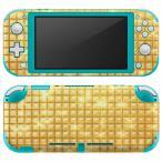 igsticker Nintendo Switch Lite 専用 デザインスキンシール 全面 任天堂 専用 ニンテンドー スイッチ ライト  ゴールド シンプル 002458