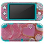 igsticker Nintendo Switch Lite 専用 デザインスキンシール 全面 任天堂 専用 ニンテンドー スイッチ ライト  ハート 水玉 ピンク 002486