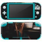 igsticker Nintendo Switch Lite 専用 デザインスキンシール 全面 任天堂 専用 ニンテンドー スイッチ ライト  人物 写真 ピアノ 003626