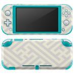 igsticker Nintendo Switch Lite 専用 デザインスキンシール 全面 任天堂 専用 ニンテンドー スイッチ ライト  模様 シンプル 白 004298