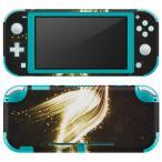 igsticker Nintendo Switch Lite 専用 デザインスキンシール 全面 任天堂 専用 ニンテンドー スイッチ ライト  鳥 金 ゴールド シンプル 004513