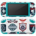 igsticker Nintendo Switch Lite 専用 デザインスキンシール 全面 任天堂 専用 ニンテンドー スイッチ ライト  マリン ワッペン イラスト 004514