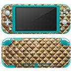 igsticker Nintendo Switch Lite 専用 デザインスキンシール 全面 任天堂 専用 ニンテンドー スイッチ ライト  ゴールド 金 メタリック 004965