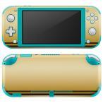 igsticker Nintendo Switch Lite 専用 デザインスキンシール 全面 任天堂 専用 ニンテンドー スイッチ ライト  ゴールド リボン ガーリー 005049