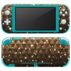 igsticker Nintendo Switch Lite 専用 デザインスキンシール 全面 任天堂 専用 ニンテンドー スイッチ ライト  ゴールド 金 キラキラ 005212