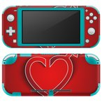 igsticker Nintendo Switch Lite 専用 デザインスキンシール 全面 任天堂 専用 ニンテンドー スイッチ ライト  ハート 性別 006365
