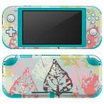 igsticker Nintendo Switch Lite 専用 デザインスキンシール 全面 任天堂 専用 ニンテンドー スイッチ ライト  模様 葉っぱ 006505