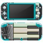 igsticker Nintendo Switch Lite 専用 デザインスキンシール 全面 任天堂 専用 ニンテンドー スイッチ ライト  ピアノ 音符 006715