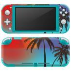 igsticker Nintendo Switch Lite 専用 デザインスキンシール 全面 任天堂 専用 ニンテンドー スイッチ ライト  海 夕日 空 植物 007366