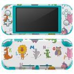 igsticker Nintendo Switch Lite 専用 デザインスキンシール 全面 任天堂 専用 ニンテンドー スイッチ ライト  英語 動物 文字 009654