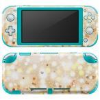 igsticker Nintendo Switch Lite 専用 デザインスキンシール 全面 任天堂 専用 ニンテンドー スイッチ ライト  金 ゴールド キラキラ 010170