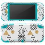 igsticker Nintendo Switch Lite 専用 デザインスキンシール 全面 任天堂 専用 ニンテンドー スイッチ ライト  パイナップル 白 黒 010741