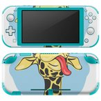 igsticker Nintendo Switch Lite 専用 デザインスキンシール 全面 任天堂 専用 ニンテンドー スイッチ ライト  きりん 動物 英語 010980