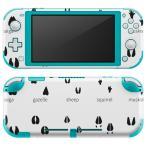 igsticker Nintendo Switch Lite 専用 デザインスキンシール 全面 任天堂 専用 ニンテンドー スイッチ ライト  足跡 動物 英語 013224