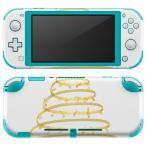 igsticker Nintendo Switch Lite 専用 デザインスキンシール 全面 任天堂 専用 ニンテンドー スイッチ ライト  ゴールド ツリー クリスマス  015607