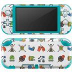 igsticker Nintendo Switch Lite 専用 デザインスキンシール 全面 任天堂 専用 ニンテンドー スイッチ ライト  野球 運動 球技 015712