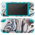 igsticker Nintendo Switch Lite 専用 デザインスキンシール 全面 任天堂 専用 ニンテンドー スイッチ ライト  しまうま 水彩 かっこいい 016064