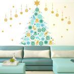 ウォールステッカー クリスマス 飾り 90×90cm シール式 装飾 オーナメント ツリー リース 2017クリスマス 壁紙   画像