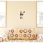 ウォールステッカー 飾り 30×30cm シール式 装飾 おしゃれ 壁紙 はがせる 剥がせる カッティングシート wall sticke  飲み物 絵 ワイン 013303