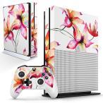 「宅配便専用」igsticker Xbox One S 専用 デザインスキンシール エックスボックス 本体裏表用 コントローラー用  花 花柄 おしゃれ 011905