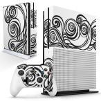 「宅配便専用」igsticker Xbox One S 専用 デザインスキンシール エックスボックス 本体裏表用 コントローラー用  模様 白黒 おしゃれ 014874