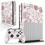 「宅配便専用」igsticker Xbox One S 専用 デザインスキンシール エックスボックス 本体裏表用 コントローラー用  家具 イラスト おしゃれ 014877