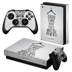 「宅配便専用」igsticker Xbox One X 専用 デザインスキンシール エックスボックス ワン ステッカー 保護  おしゃれ 英語 ファッション 010044