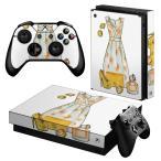 「宅配便専用」igsticker Xbox One X 専用 デザインスキンシール エックスボックス ワン ステッカー 保護  服 おしゃれ 黄色 014755