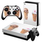 「宅配便専用」igsticker Xbox One X 専用 デザインスキンシール エックスボックス ワン ステッカー 保護  アイス かわいい 夏 014774