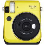 【あすつく】 フジフイルム インスタントカメラ instax mini 70 「チェキ」 イエロー