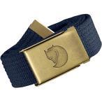 [フェールラーベン] アウトドア ベルト Canvas Brass Belt 4 cm ONE SIZE(120cm) 77297 Dark Navy
