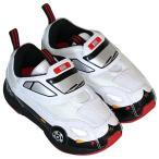 オープン記念価格 トミカ靴 光るパトカースニーカー2・運動靴・ホワイトブラック