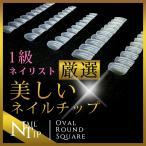 ネイル チップ つけ爪 クリアチップ 選べる形状 500枚 〜 600枚 セット ネイルチップ クリア オーバル ちび爪
