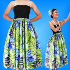 フラダンス チューブトップドレス ブルー Fサイズ 2261blF