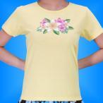 フラダンス Tシャツ [M]  プルメリア イエロー 2478my