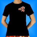 フラダンス Tシャツ 3L サイド プルメリア ブラック 552-3lb