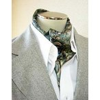 ショッピングスカーフ メンズ用100%シルクスカーフ  1055