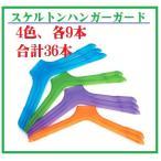 スケルトン ハンガーガード 4色各9本組(36本)お得なセット ワイヤー ハンガー カバー 洗濯 クリーニング
