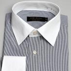 ショッピングネイビー ワイシャツ クレリック 長袖 3枚組
