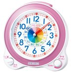 SEIKO セイコー 目覚まし時計 かわいい 知育 アナログ ピンク KR887P 子供【ギフト包装可】 お取り寄せ