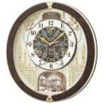 セイコー 掛け時計 電波 アナログ からくり トリプルセレクション・メロディ 回転飾り 薄金色パール RE579B