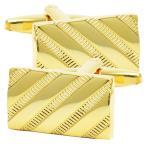 カフス 長方形 斜め ストライプ カフリンクス メンズ スーツ 結婚式 誕生日 シャツ プレゼント 上司 ギフト  ダブルカフス
