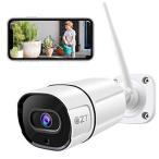2020増強版QZT 防犯カメラ 屋外 300万画素 監視カメラ 1296P ipカメラ 屋内 ワイヤレス/WiFi ネットワークカメラ 双