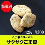 お菓子 おかき ひまわりびじん 小袋シリーズ ひまわり油 沖縄産塩使用 サクサクごま塩 120g