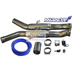 【M's】W216 AMG CLクラス CL63 CL65 MIRACLE製 可変センターマフラー//1913 C216 CL216 クーペ ステンレス ミラクル リモコン付 可変マフラー V8 V12 新品