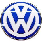 【M's】VW ニュービートル 9C(1998y-2010y)純正品 フロント エンブレム(ブルー/ホワイト)//正規品 ボンネット エンブレム