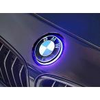 【M's】BMW 各タイプ 純正エンブレム+エンブレムマーカー セット(フロント用)//光るエンブレム ブルー LED 275559